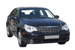 Zwarte auto Stock Foto's