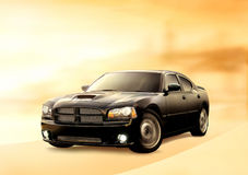 Zwarte auto Royalty-vrije Stock Afbeelding
