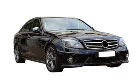Zwarte auto AMG Royalty-vrije Stock Afbeelding