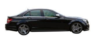Zwarte auto AMG Royalty-vrije Stock Afbeeldingen