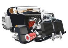 Zwarte auto van de toekomst Stock Foto