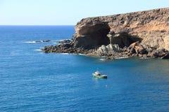 Zwarte Baai (Caleta Negra). Ajuy, Fuerteventura, Canarische Eilanden. Royalty-vrije Stock Foto's