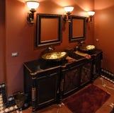 Zwarte badkamers Stock Afbeeldingen