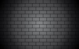 Zwarte bakstenen muur stock illustratie