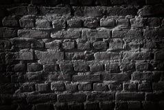 Zwarte Bakstenen muur Royalty-vrije Stock Afbeeldingen