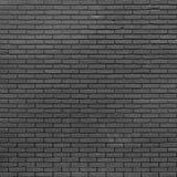 Zwarte Bakstenen muur Stock Afbeeldingen