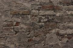 Zwarte bakstenen muur, metselwerkachtergrond voor ontwerp stock fotografie