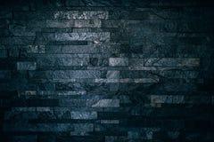 Zwarte bakstenen muurtextuur royalty-vrije stock foto