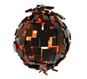Zwarte bal stock afbeelding