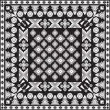 Zwarte bandanadruk Stock Afbeelding