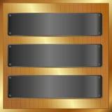 Zwarte banners Stock Afbeelding