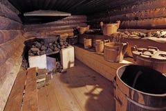 Zwarte banya (bathhouse) royalty-vrije stock foto