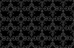 Zwarte barokke achtergrond Stock Foto's