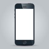 Zwarte bedrijfs mobiele telefoon op witte achtergrond Stock Fotografie