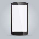 Zwarte bedrijfs mobiele telefoonstijl op witte achtergrond Stock Fotografie