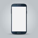 Zwarte bedrijfs mobiele telefoonstijl op witte achtergrond Stock Afbeelding