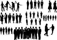 Zwarte bedrijfsmensen Royalty-vrije Stock Foto