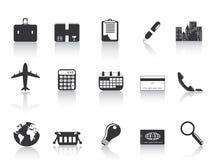 Zwarte bedrijfspictogrammen Royalty-vrije Stock Foto's