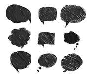 Zwarte bellen voor toespraak vector illustratie