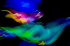 Zwarte, blauwe, gele, roze, groene abstracte achtergrond Stock Foto