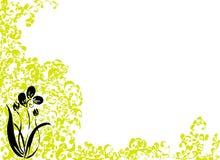 Zwarte bloem royalty-vrije illustratie
