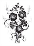 Zwarte bloemen Royalty-vrije Illustratie
