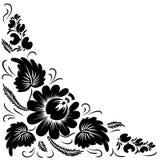 Zwarte bloemen op een witte achtergrond Stock Foto