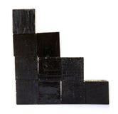 Zwarte blokken Stock Afbeelding