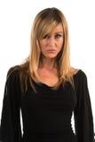 Zwarte blouse Stock Afbeelding