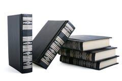 Zwarte boeken Stock Foto's
