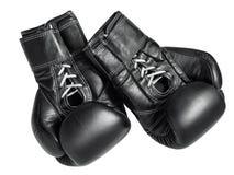 Zwarte bokshandschoenen Royalty-vrije Stock Fotografie