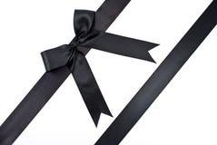 Zwarte boog met lint Stock Fotografie