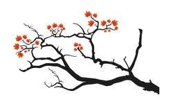 Zwarte boomtak stock illustratie