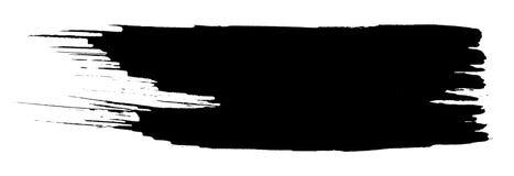 Zwarte borstel stock illustratie