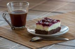 Zwarte boscake en koffie Royalty-vrije Stock Foto