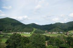 Zwarte boslandschappen in Duitsland Royalty-vrije Stock Afbeeldingen
