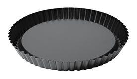 Zwarte Braadpanschotel Stock Afbeelding