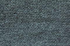 Zwarte breiende wol Stock Foto