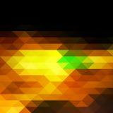 Zwarte bruine geelgroene rijen van driehoekenachtergrond, vierkant vector illustratie