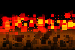 Zwarte bruine rode gele gloeiende diverse tegelsachtergrond stock illustratie