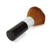 Zwarte brush-on op witte achtergrond Stock Fotografie