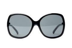 Zwarte buitensporige zonnebril Royalty-vrije Stock Afbeeldingen