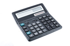 Zwarte bureaucalculator Royalty-vrije Stock Afbeelding