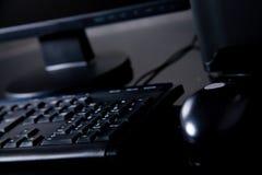 Zwarte bureaucomputer Royalty-vrije Stock Fotografie