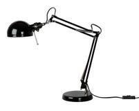 Zwarte bureaulamp Royalty-vrije Stock Afbeeldingen