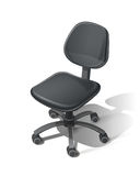 Zwarte bureaustoel Royalty-vrije Stock Afbeelding