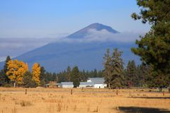 Zwarte Butte, Zusters, Oregon Royalty-vrije Stock Foto's