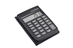 Zwarte calculator Royalty-vrije Stock Foto
