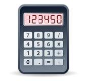 Zwarte calculator Royalty-vrije Stock Afbeelding