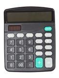 Zwarte calculator Stock Fotografie